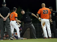 FBOA member Dave Buck ejects an unruly head coach.